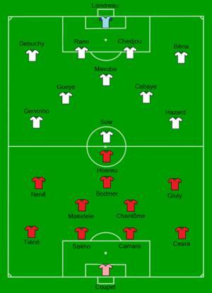 2011 Coupe de France Final - Image: 2011 French Cup final Lille OSC vs Paris SG Line up