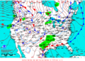 2012-01-25 Surface Weather Map NOAA.png
