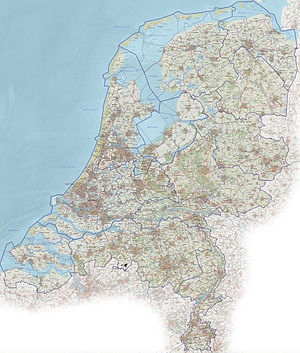 Roads in the Netherlands - Detailed road map of the Netherlands (2012)
