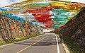 20120728青海湖黑马河至石乃亥环湖西路2km坡道顶经幡全景 - panoramio.jpg