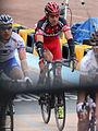 2012 Paris-Roubaix, George Hincapie at the finish line (6924507342).jpg