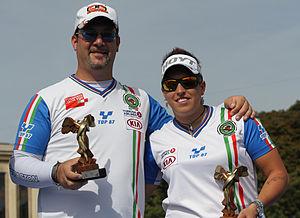 Marcella Tonioli - Silver medalists Marcella Tonioli and Sergio Pagni at 2013 FITA Archery World Cup.