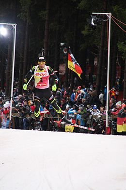 2014-01-04 Biathlon World Cup Oberhof - Mens Pursuit - 3 - Martin Fourcade 7.JPG