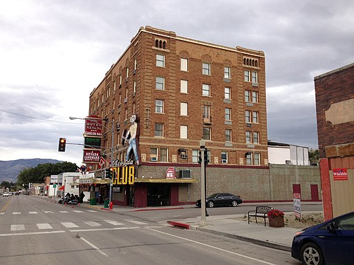 2014-08-11 15 27 10 Hotel Nevada along U.S. Route 50 in downtown Ely, Nevada