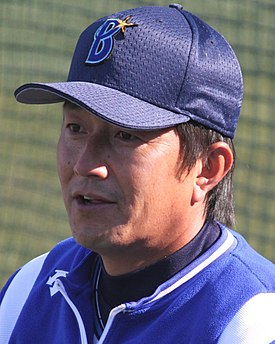 20141122 Takasi Manei,coach of the Yokohama DeNA BayStars, at Yokohama Stadium.JPG