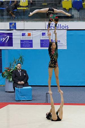 Julia Ivonchyk - Image: 2014 Acrobatic Gymnastics World Championships Women's group Finals Belarus 02