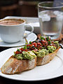 2014 avocado salad tomato salsa toasted baguette.jpg