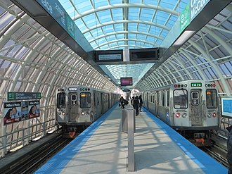 Cermak–McCormick Place station - Image: 20150321 36 CTA Green Line @ Cermak Mc Cormick Place station