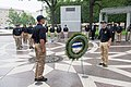 2015 Law Enforcement Explorers Conference standing at attention by wreath.jpg