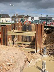 2015 at Chippenham station - new footbridge construction.JPG