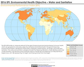 Sanitation public health conditions related to clean drinking water and adequate disposal of human excreta and sewage