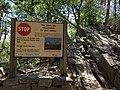 2017-08-09 14 17 12 Sign warning of danger at the end of the Seneca Rocks Trail in Seneca Rocks, Pendleton County, West Virginia.jpg