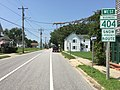 2017-08-21 12 54 22 View west along Maryland State Route 404 Business (Gay Street) at Maryland State Route 619 (Sixth Street) in Denton, Caroline County, Maryland.jpg
