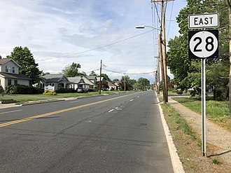Middlesex, New Jersey - Route 28, the most prominent highway in Middlesex