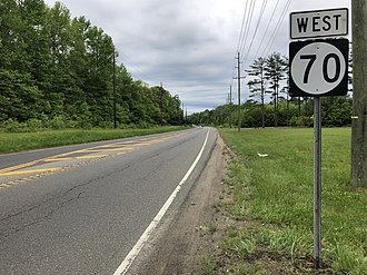 Medford, New Jersey - Route 70 in Medford