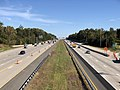 2018-10-22 13 40 19 View east along Interstate 66 from the overpass for Virginia State Route 28 (Sully Road) in Centreville, Fairfax County, Virginia.jpg