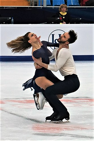 Free dance (ice dance) - Gabriella Papadakis and Guillaume Cizeron during the 2017-18 season.