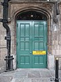 2018 at Shrewsbury station - green door danger.JPG