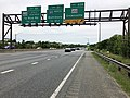 2019-05-22 13 31 32 View west along Interstate 595 and U.S. Route 50 and south along U.S. Route 301 (John Hanson Highway) at Exit 23B (Maryland State Route 450, Crownsville) in Parole, Anne Arundel County, Maryland.jpg