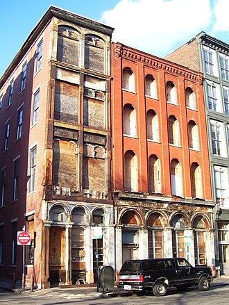 Stephen Decatur Button - Lewis Building (center), and 243 Chestnut Street (left).