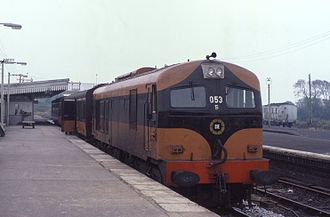 Claremorris - Train at Claremorris Railway Station