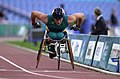 231000 - Athletics wheelchair racing 10km final John Maclean action 2 - 3b - 2000 Sydney race photo.jpg