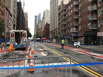 2016 New York and New Jersey bombings - Ongoing investigation at 23rd Street, as seen on September 19, 2016