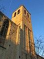 247 Monestir de Sant Cugat del Vallès, façana sud, campanar.JPG