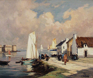 Henri Alphonse Barnoin - Fishing Harbour, Concarneau, Brittany