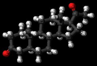 5α-Dihydroprogesterone - Image: 5alpha Dihydroprogesterone 3D ball