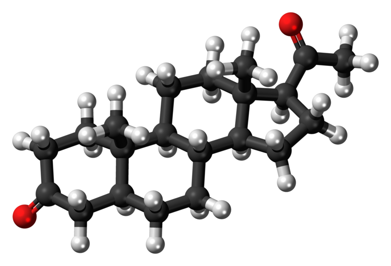 5alpha-Dihydroprogesterone 3D ball.png