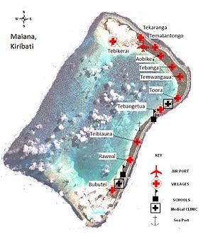Maiana - Map of Maiana