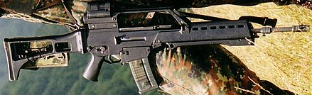 Heckler & Koch G36 with a loaded 30 magazine 800px-G36bw.jpg