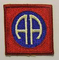 82nd Airborne Division patch, 1944.JPG