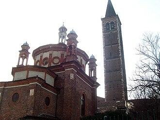 Portinari Chapel - The Portinari Chapel and the campanile of Sant'Eustorgio