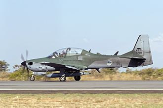 Embraer EMB 314 Super Tucano - The A-29A incorporates an additional tank for 400 l of fuel.
