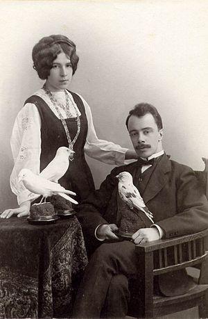 Nadezhda Ladygina-Kohts - Image: A.F. Kots and N.N.Ladygina