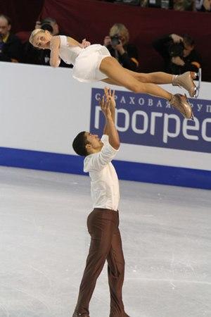Robin Szolkowy - Savchenko and Szolkowy perform a triple twist at the 2010 European Championships.