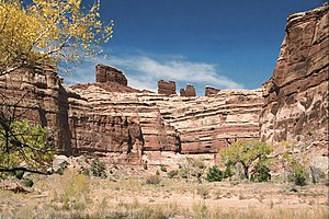 Canyonlands National Park - The Chocolate Drops buttes above the Maze