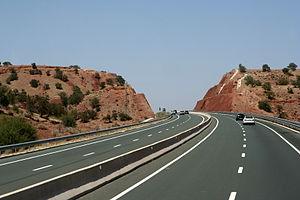 Casablanca–Agadir expressway - A3 motorway in Morocco
