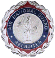 ANG Recruiting Service Badge
