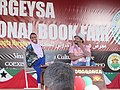 ASC Leiden - van de Bruinhorst Collection - Somaliland 2019 - 4440 - Nadhifa Mohamed, Somali-British novelist in discussion with Billy Kahora, a Kenyan writer. Hargeysa 12th International Book Fair 20-25 July 2019.jpg