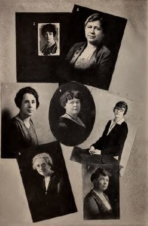 Bertha Knight Landes - Mary Davenport Engberg, Bertha Knight Landes, Esther Stark Maltby, Mary J. Elmendorf, Esther Shepard, Alice D. Engley Beek, Ruth Karr McKee