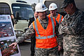 A U.S. Soldier with the U.S. Army Corps of Engineers briefs Chief of Staff of the Army Gen. Raymond T. Odierno, right, about a hospital site at Camp Humphreys, South Korea, Feb. 24, 2014 140224-A-KH856-319.jpg