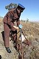 A boer war reenactor, MC Heunis preparing his heliograph on top of Elandskop Hill in Petrus Steyn.jpg