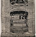 A clergyman in a coffin holding a crozier is surrounded by a Wellcome V0042447.jpg