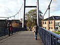 A footbridge leading from Haven Banks over the river Exe toward the quay - geograph.org.uk - 1590418.jpg