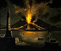 A lighthouse and an erupting volcano Wellcome V0049620.jpg