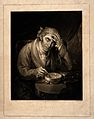 A man stirring his broth contemplates his injured head which Wellcome V0015139.jpg