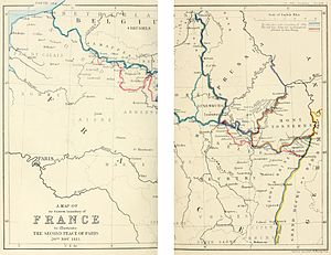 Treaty of Paris (1815) - A map of the Eastern boundary of France to illustrate The Second Peace of Paris 20th Nov. 1815